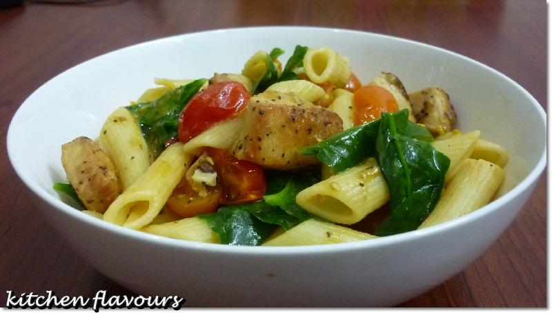 kitchen flavours: Chicken Florentine Pasta