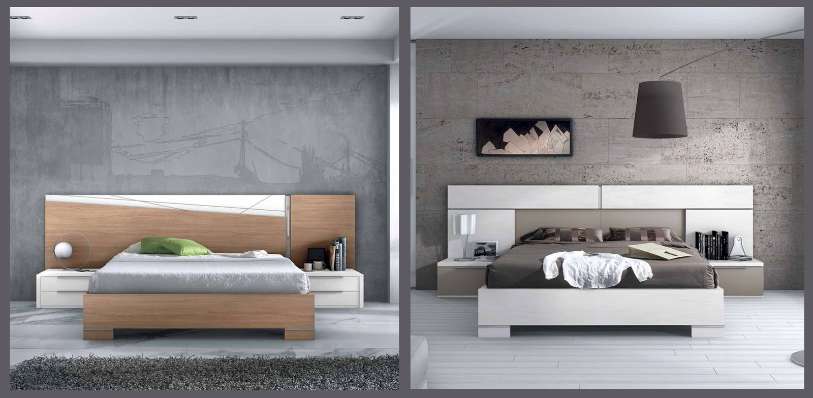Salcedo mueble for Cabecero mesillas integradas
