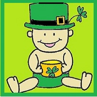 St. patrick's day baby, how to draw a baby
