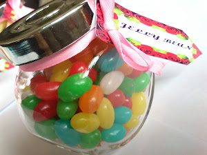 Doorgift Glass Jar+Jelly beans+Deco RM3.00