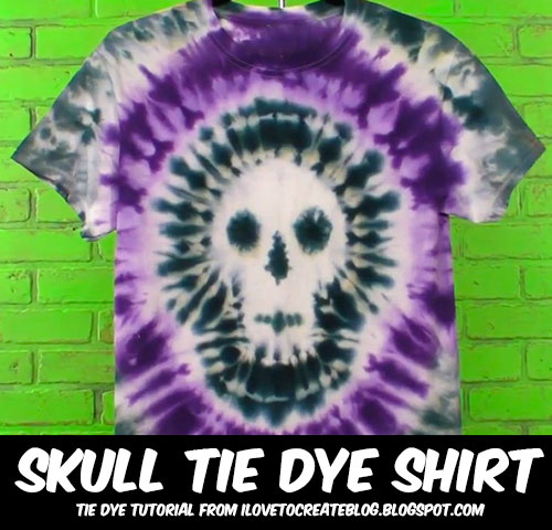 ilovetocreate blog how to make a skull tie dye shirt ForMaking A Tie Dye Shirt