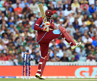 Pakistan Vs West Indies Chris gayle playing The Shot