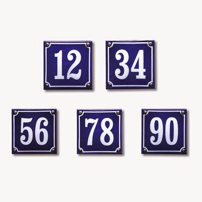 Emaille huisnummer standaard