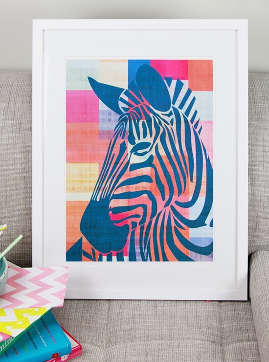 Safari Fusion blog | Zebra crossing | Limited edition Zebra print by White Forest Home www.whiteforesthome.com