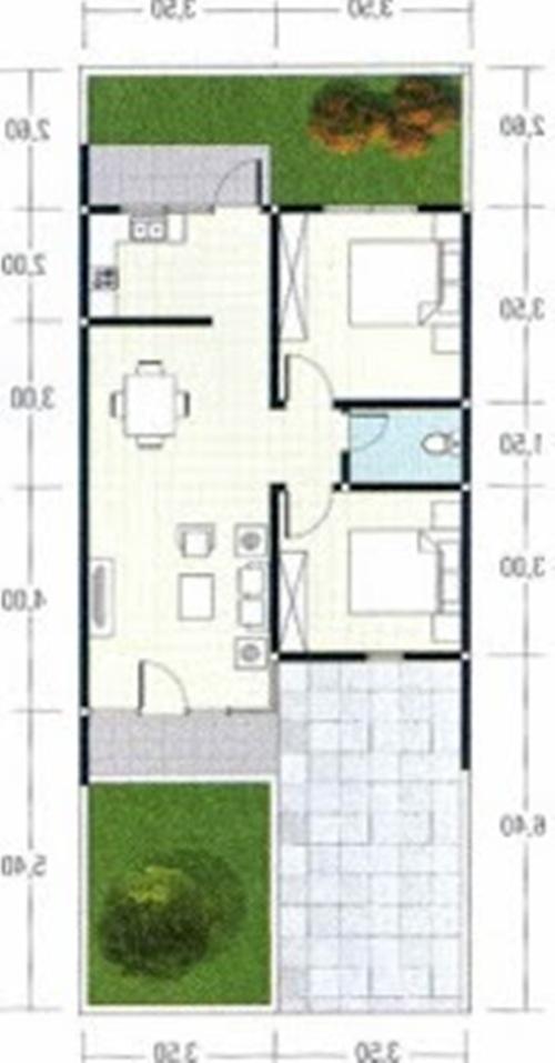 gambar desain rumah minimalis untuk type 60 1 dan 2 lantai