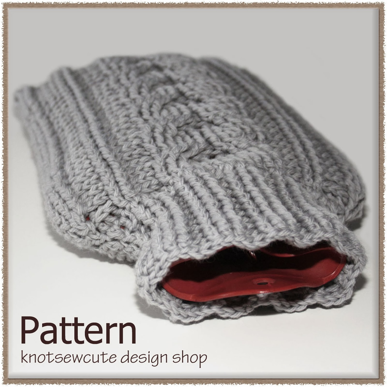 knot•sew•cute design shop: new crochet pattern - cabled hot water ...