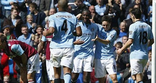 Video Gol Manchester City vs West Ham 27 April 2013