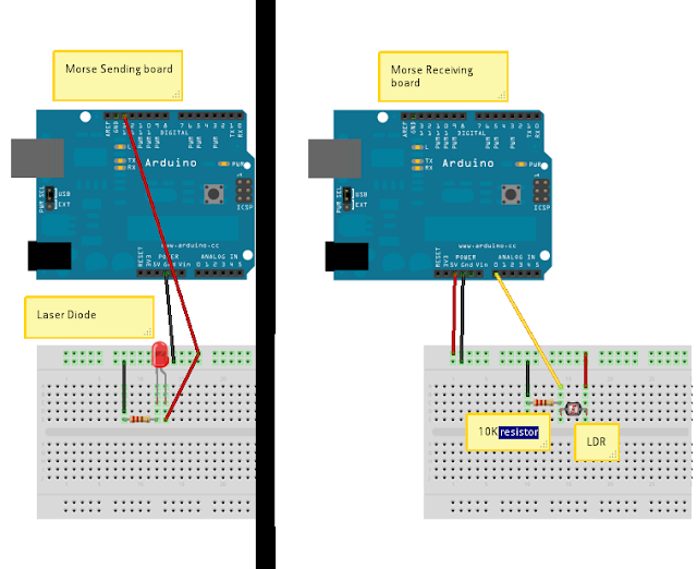 Reverse midas touch arduino morse code sender receiver