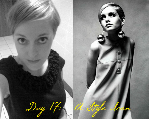 Day 17: A style icon (Twiggy)