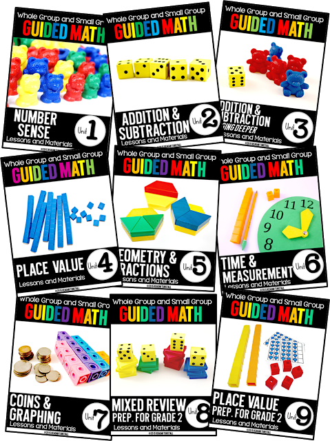 https://www.teacherspayteachers.com/Product/Guided-Math-First-Grade-Units-1-9-Bundle-1940110