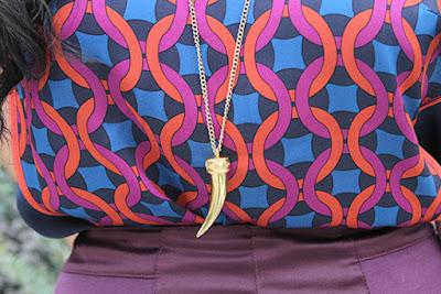 Banana Republic Gold Tusk Necklace