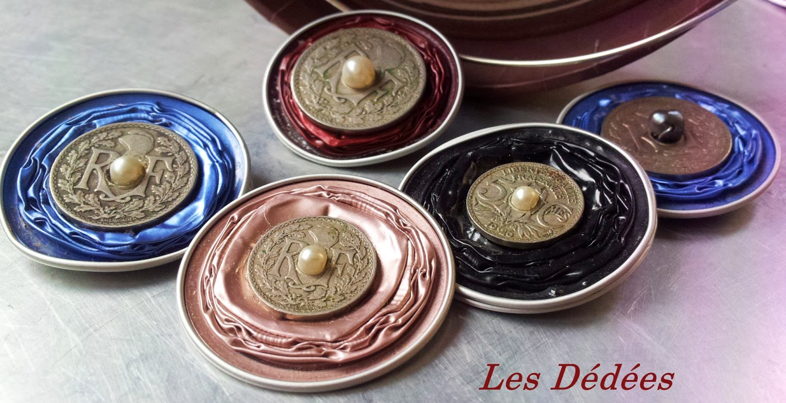 les dedees vintage recup creations bijoux what else alu argent et perle by anne. Black Bedroom Furniture Sets. Home Design Ideas