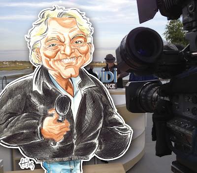 Caricature de Laurent Boyer - refusé de plateau à Noirmoutier pour son émission sur France 3