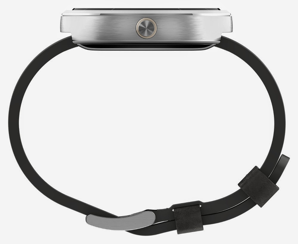 Motorola Moto 360 Side View Gray