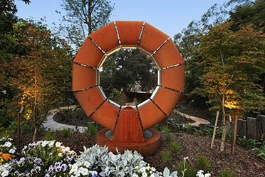 Corten Steel Fire Ring Sculture