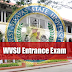 WVSU Entrance Exam application, details