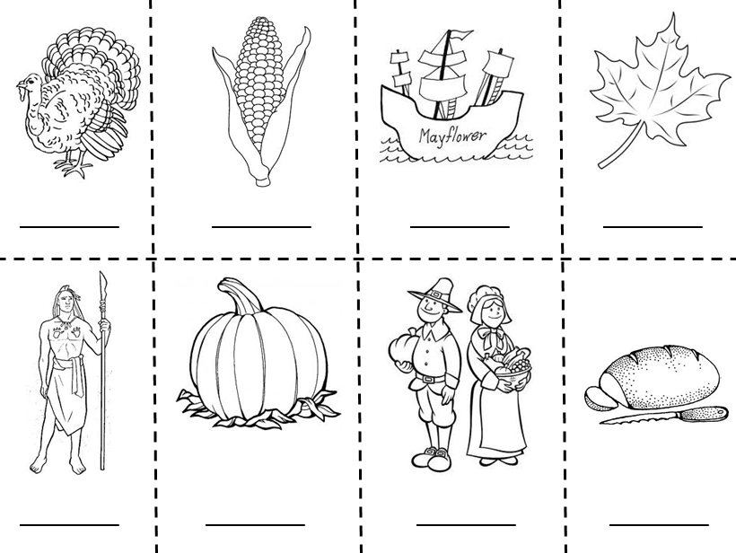 First Grade Thanksgiving Plate Coloring Page
