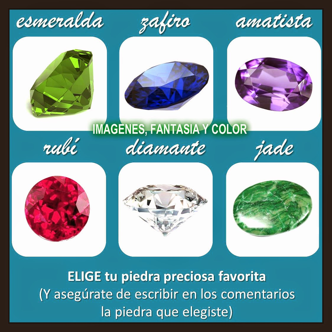 Imagenes fantasia y color test de las piedras preciosas for Cual es el color piedra