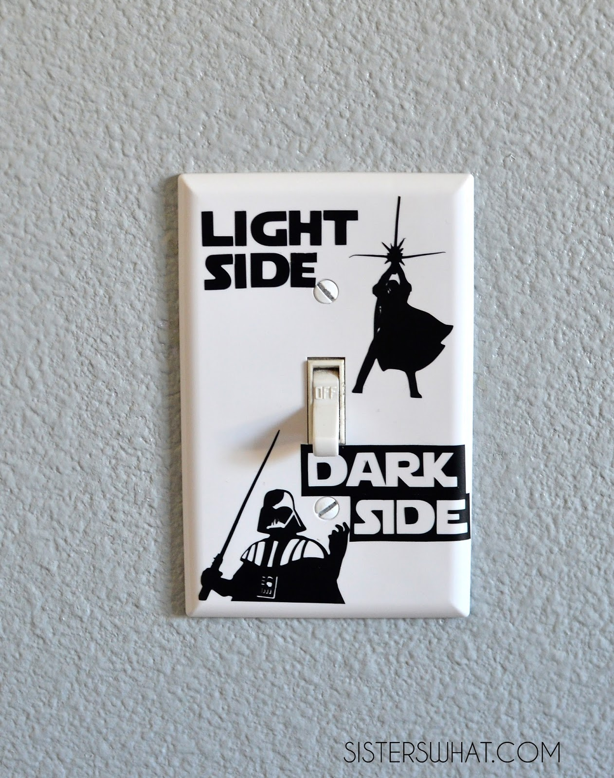 star wars light switch silhouette challenge sisters what