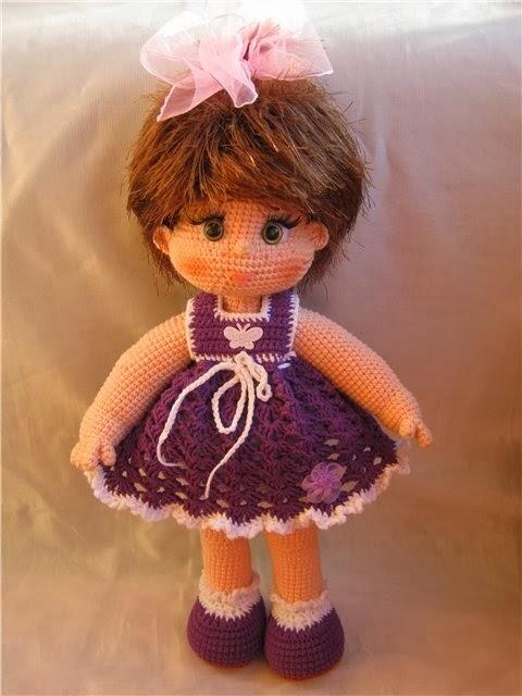 Видео мастер класс вязания куклы