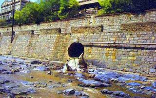 Contaminación en aguas Con la lluvia, los contaminantes de la atmósfera se precipitan al suelo, los ríos y los mares, modificándolos y causando problemas de salud en los seres vivos. En el agua existen partículas suspendidas (incluso con un diámetro aproximado de una micra) que son arrastradas por las corrientes. Dichas partículas se desprenden de las laderas de los ríos o de aguas negras proveniente de las ciudades. La eutrofización provoca que proliferen las algas, que saturan de oxígeno el agua desencadenando procesos acelerados de putrefacción