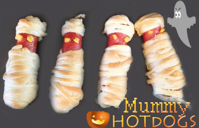 Crafty Allie: Halloween Mummy Hot Dogs