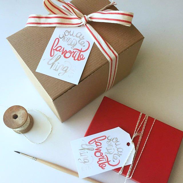 Kori Clark Design watercolor gift tag