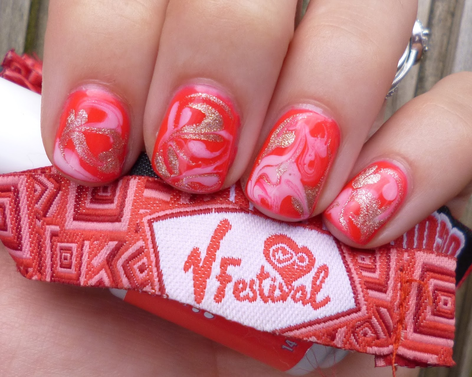 Lou is perfectly polished water marbled gel nails v festival style this is the first time i have worn gel nails myself and they were so ideal for a long weekend of camping i am a trained nail tech and do lots sets solutioingenieria Image collections