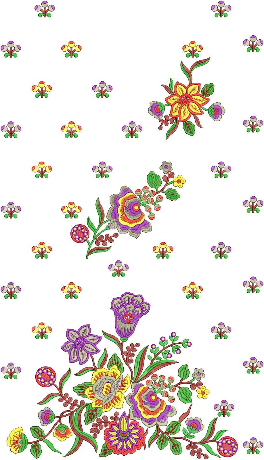 Embdesigntube Neck Embroidered Work For Salwar Kameez