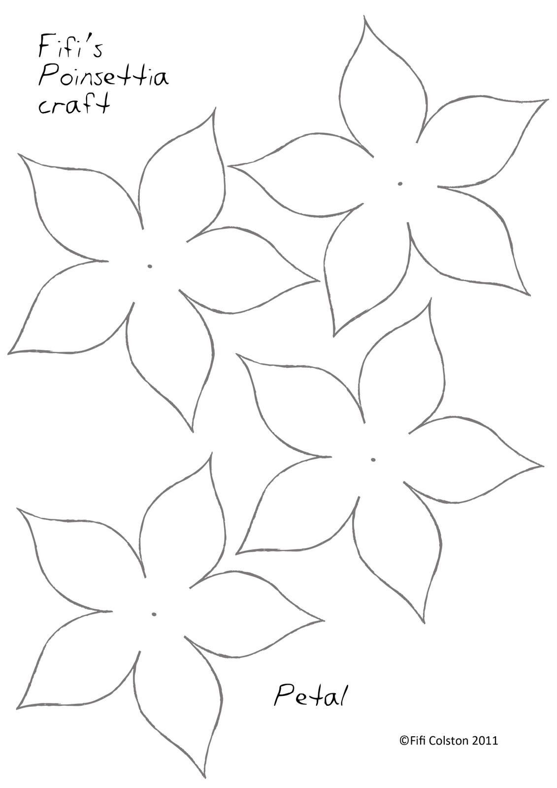 This is an image of Shocking Printable Flower Petal Template Pattern