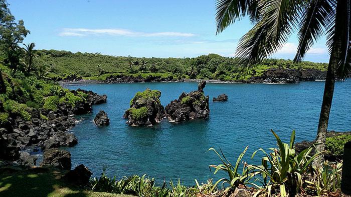 Road to Hana, Maui, Hawaii, Black Sand Beach