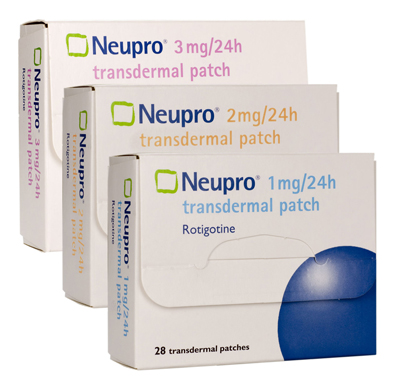 Transdermal patches for parkinsons