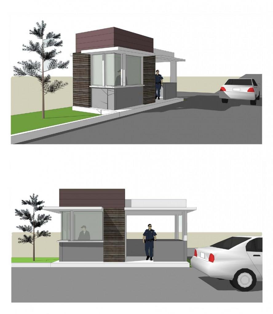 Rencana Desain Pos Jaga Pondok Pesantren Modern aura insani