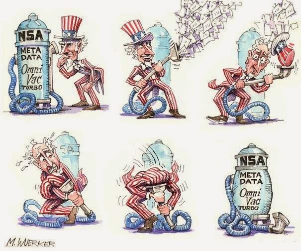 Wuerker: NSA - Meta Data OmniVac.