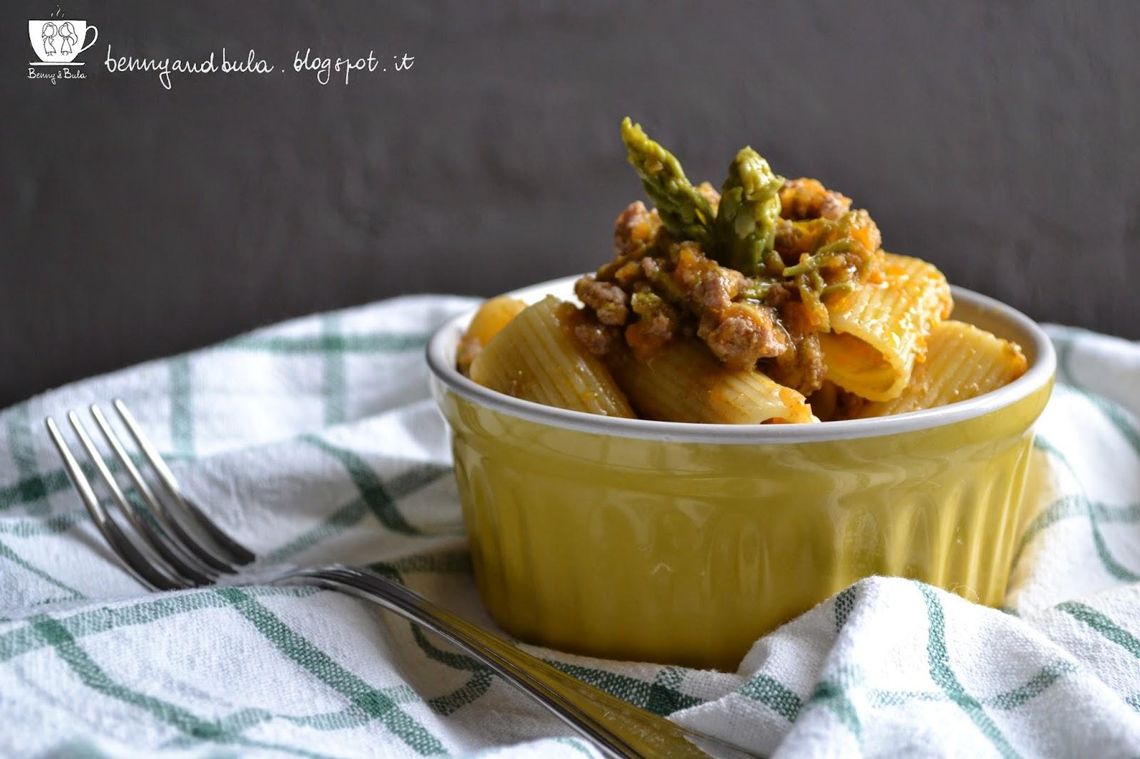 ricetta rigatoni al ragù con verdure/ vegs ragout pasta recipe