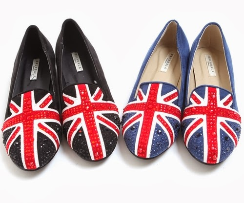 Jeweled British Accent Flatshoes
