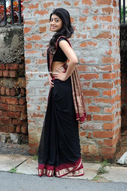 Praneetha saree sexy expose