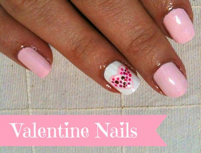 valentines day heart nails