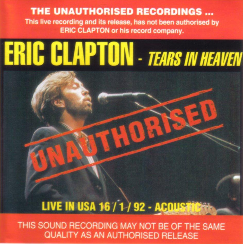Rock On Vinyl Eric Clapton Unauthorised Tears In