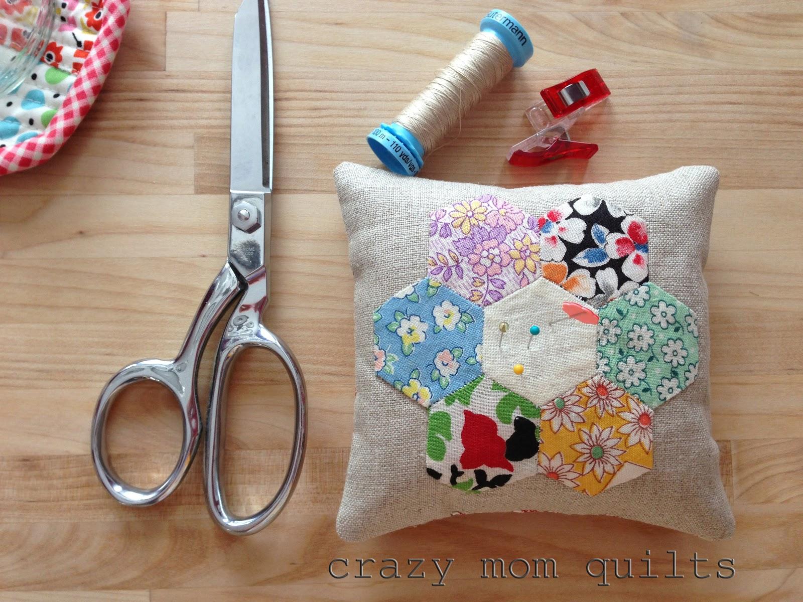 Crazy Mom Quilts Hexagon Pin Cushion