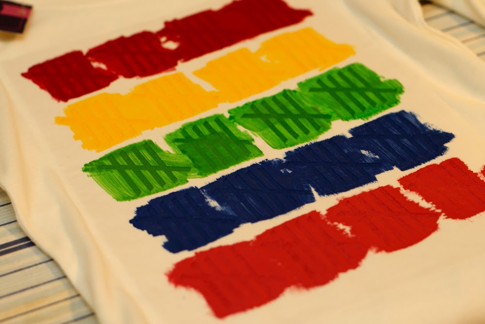 colorful tally mark diy shirt