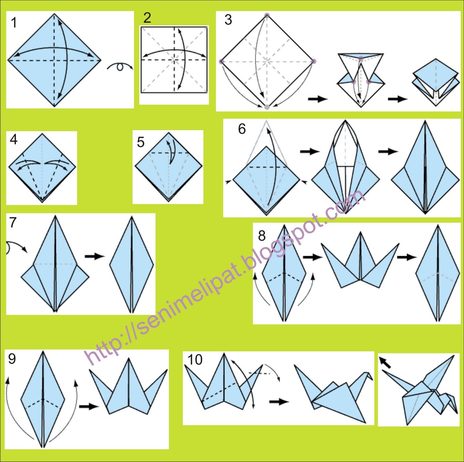 Cara Membuat Burung Dari Kertas