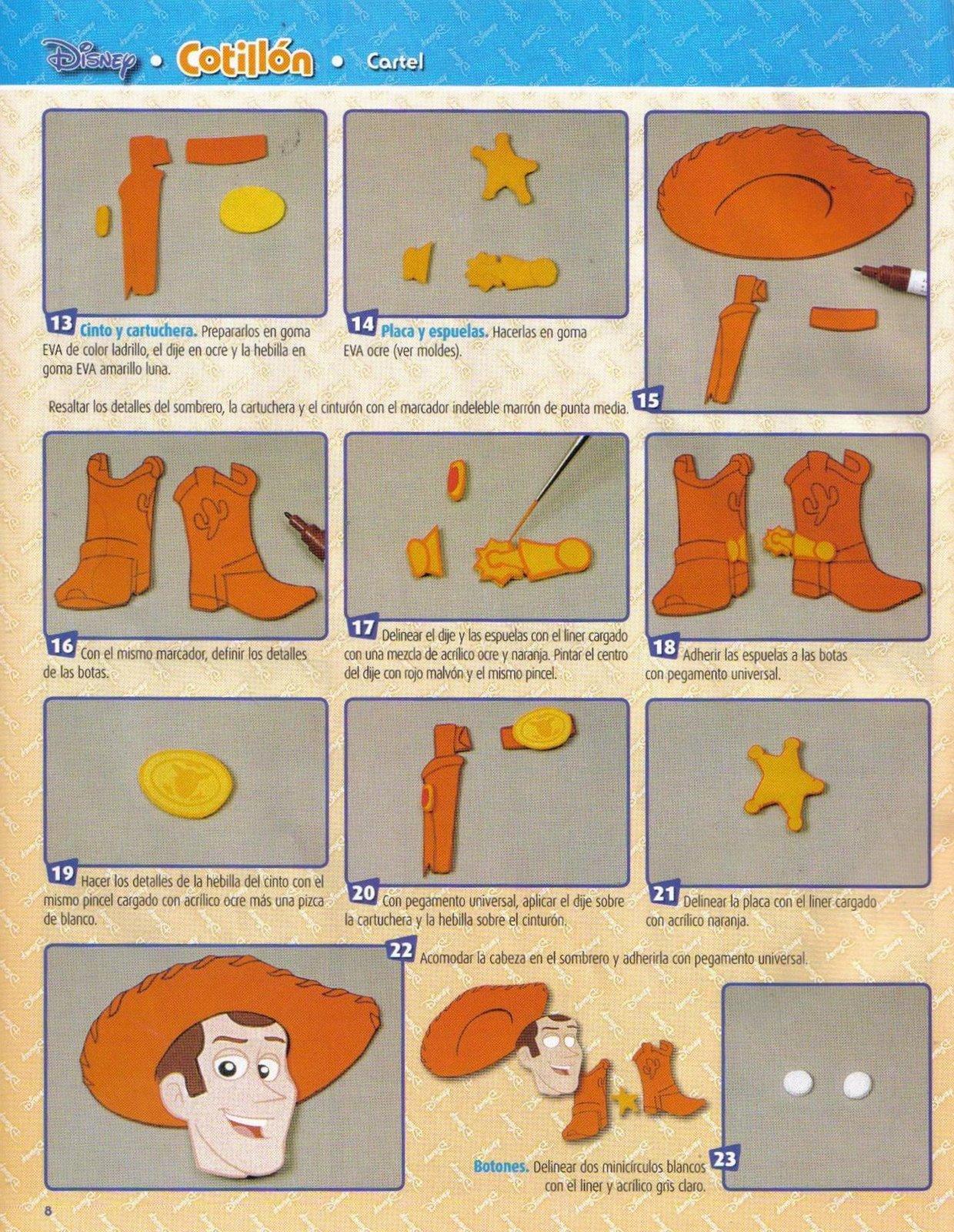 Sombreros de Woody en foami - Imagui