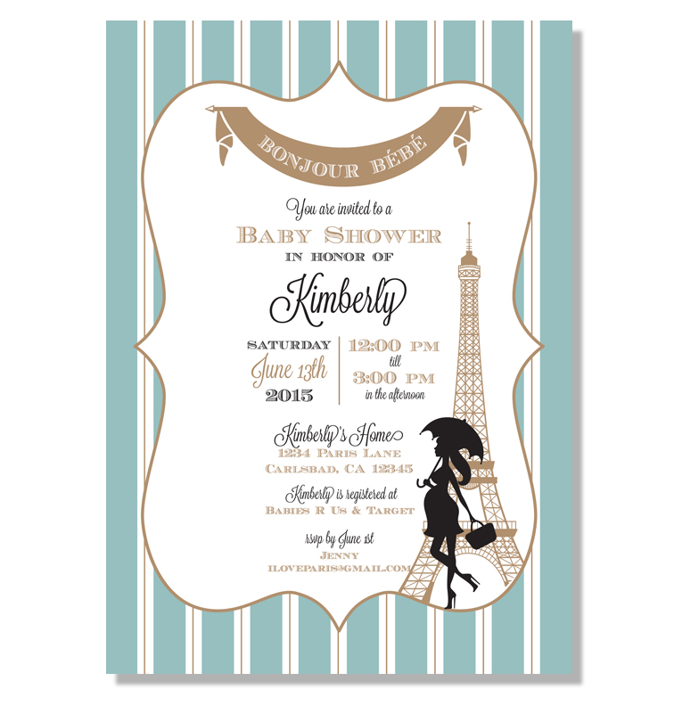 Invitation parlour the parisan baby shower invitation can be customized in a different colors and wording you can order them at invitationparlour filmwisefo