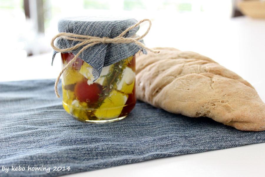 Feta, Tomaten, Geschenk aus der Küche, Gemüse, Olivenöl, Einmachen, Einlegen
