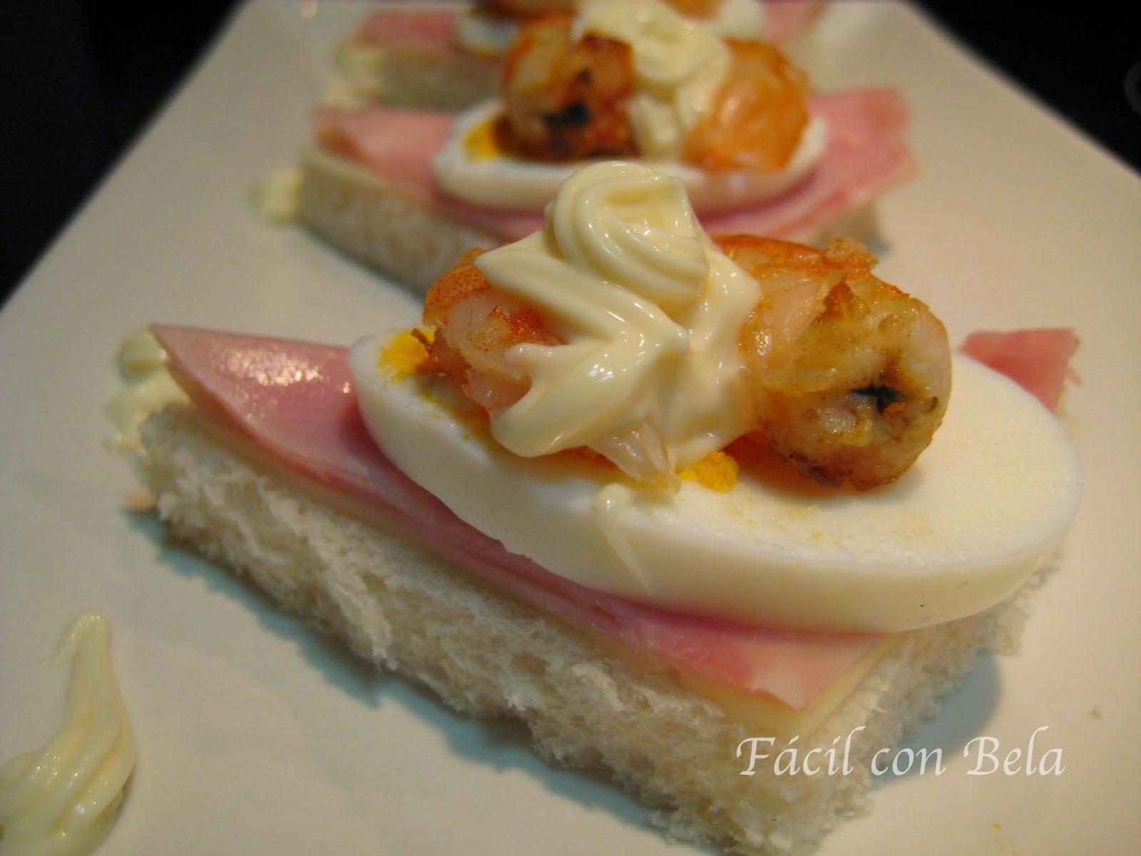 Recetas f cil con bela canap de jam n queso huevo y for Que es un canape