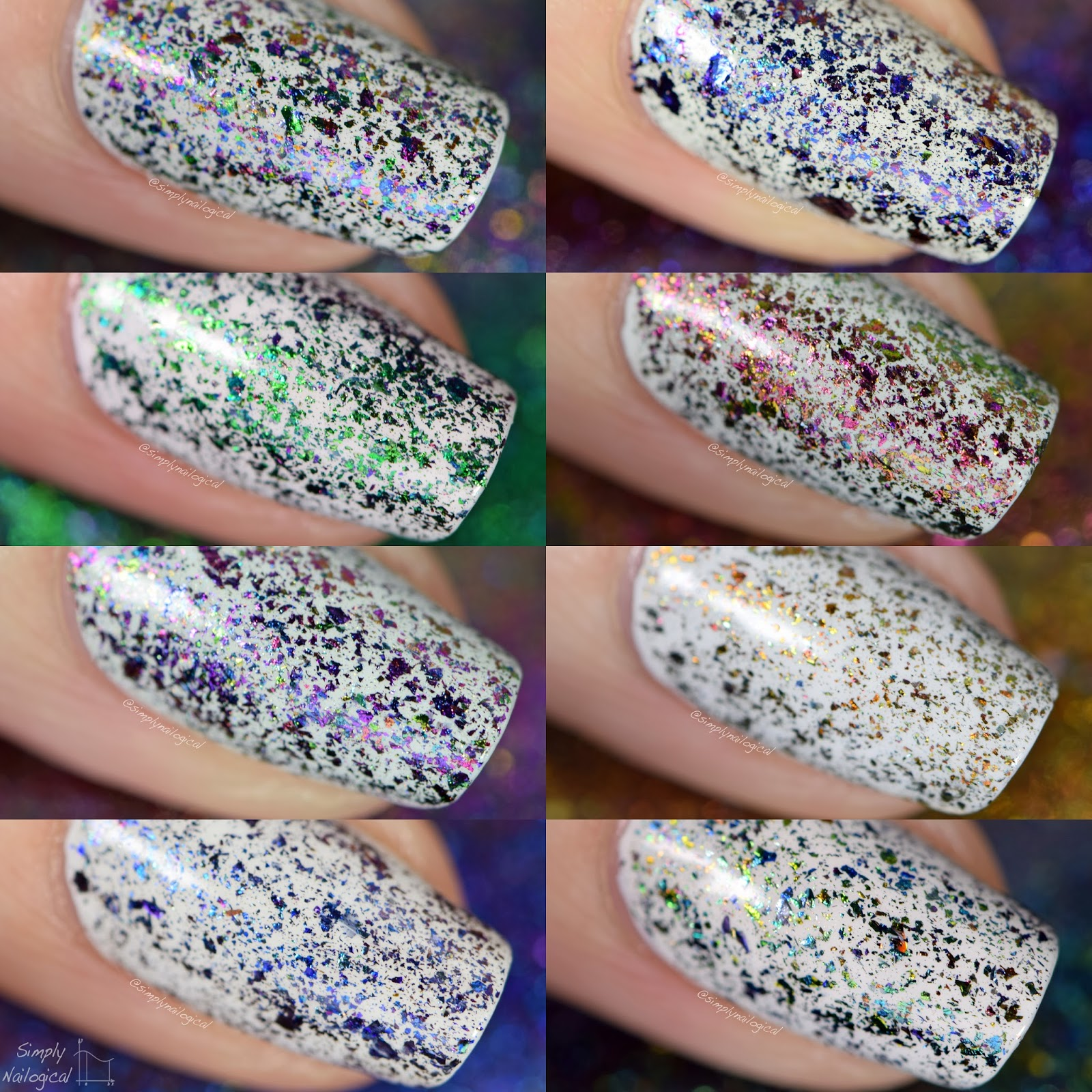 Starrily - Mythology flakies swatches