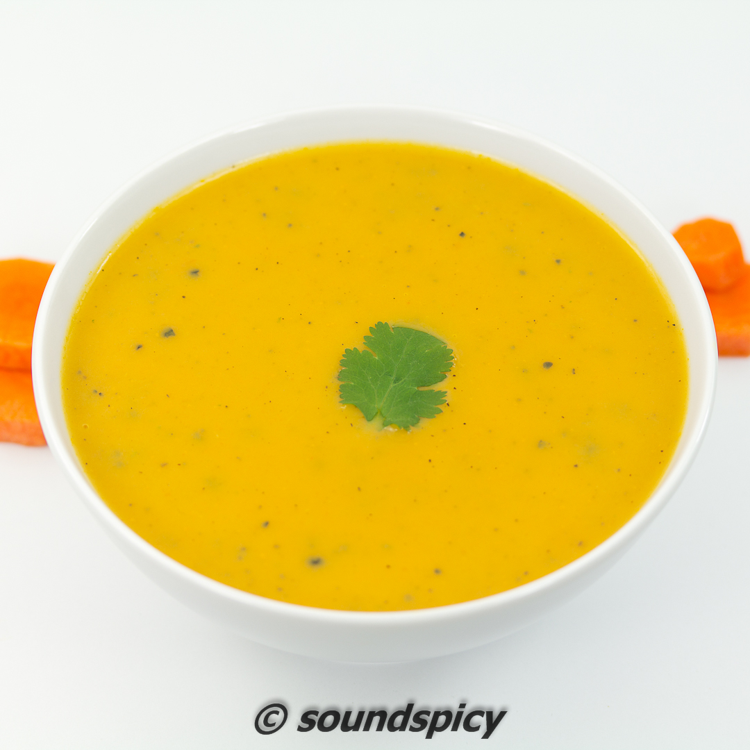 Carrot Soup, healthy, delicious, creamy (no cream) and comforting ...