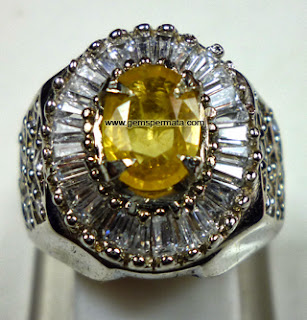 batu permata yellow sapphire kode 509 batu permata natural yellow
