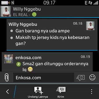 enkosa sport testimoni macam macam testimoni asli dari pelanggan Testimoni Willy Nggebu di enkosa sport toko online pakaian olahraga terpercaya